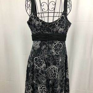 Evan-Picone floral empire waist dress 6P